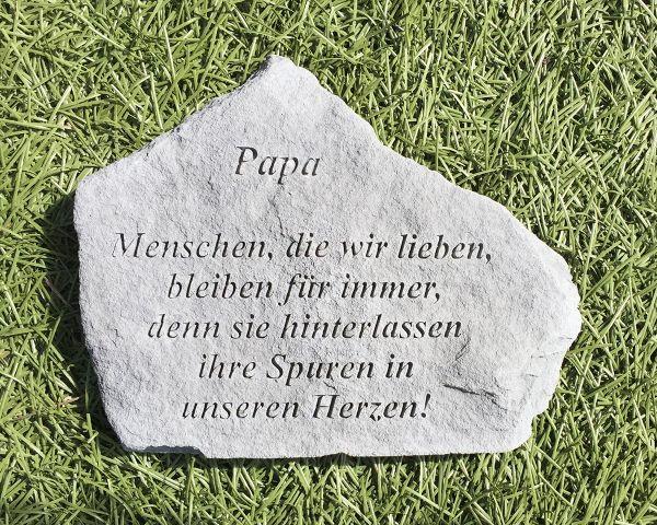 Gedenkstein Papa mit Spruch Steinguss 18 x 14 cm Grabschmuck
