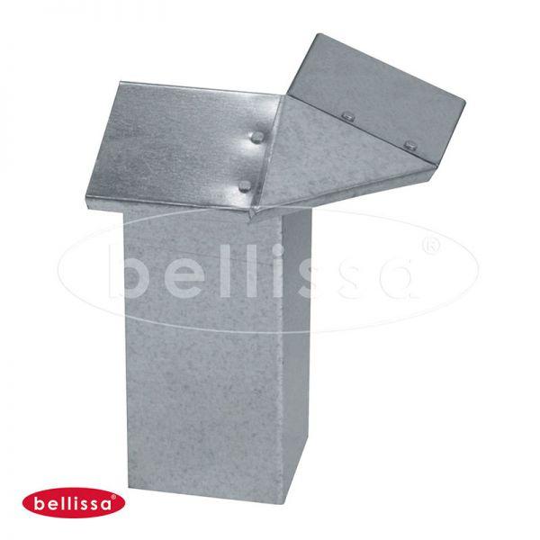 Eckverbinder für Schneckenblech 20x7x7cm verzinkt Bellissa