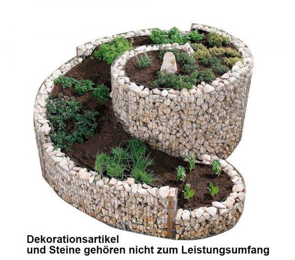 Kräuterspirale 200x150cm Gabione Bellissa 95600