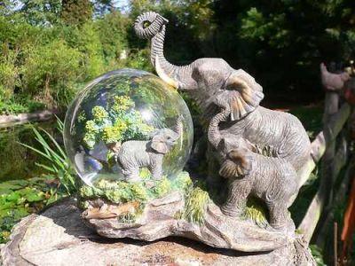 Gro er elefant schneekugel spieluhr 17 cm tiere skulpturen und figuren dekoration f r - Dekoration afrika style ...