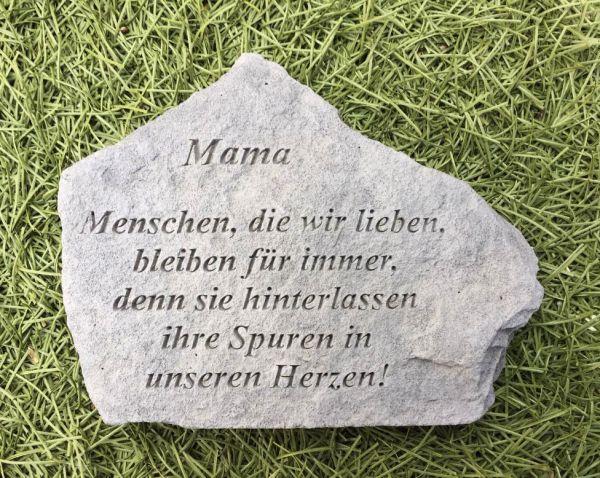 Gedenkstein Mama mit Spruch Steinguss 18 x 14 cm Grabschmuck