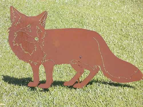 Fuchs zum stecken edelrost 33x53 cm andere tiere tiere for Edelrost tiere